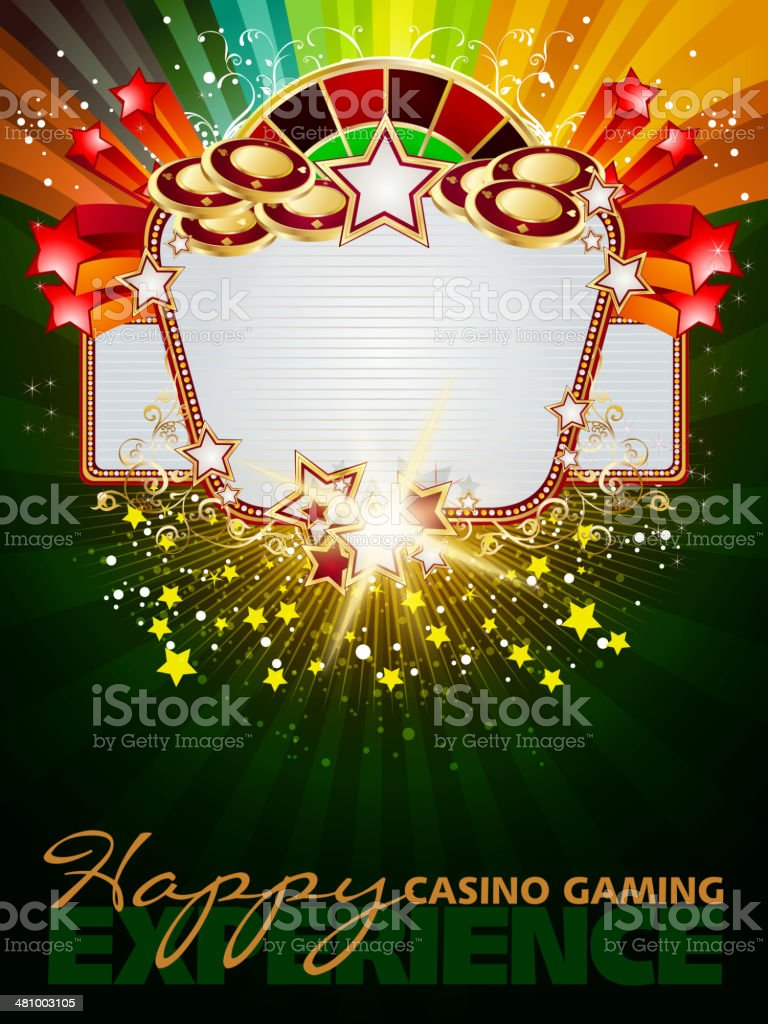 Marquee Casino Background with Copy space royalty-free stock vector art