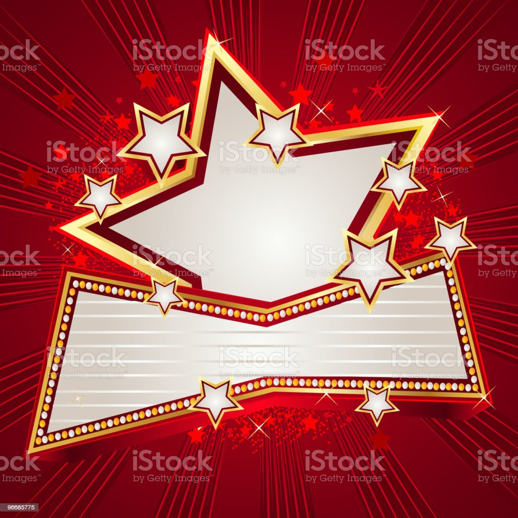 Marquee Display with a big Star royalty-free stock vector art