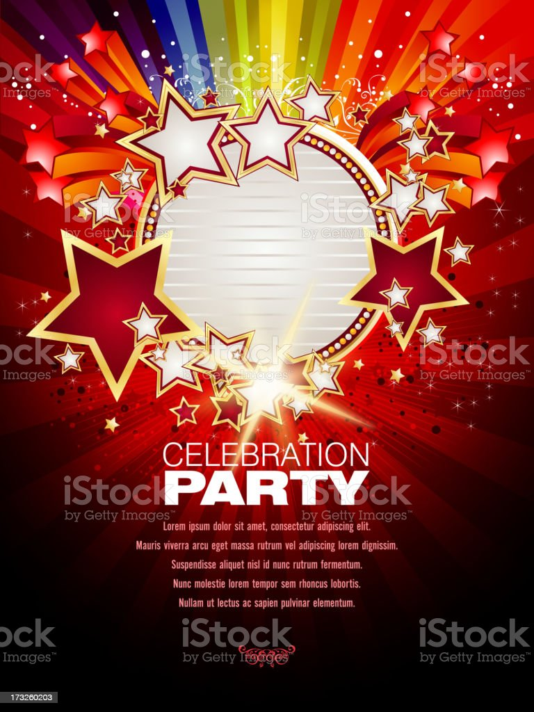 Marquee Display with Background royalty-free stock vector art