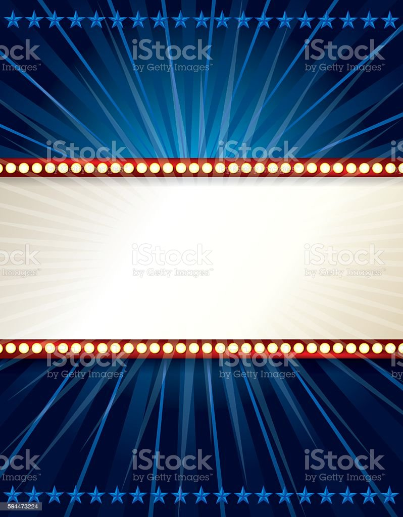 Marquee Lights Background vector art illustration