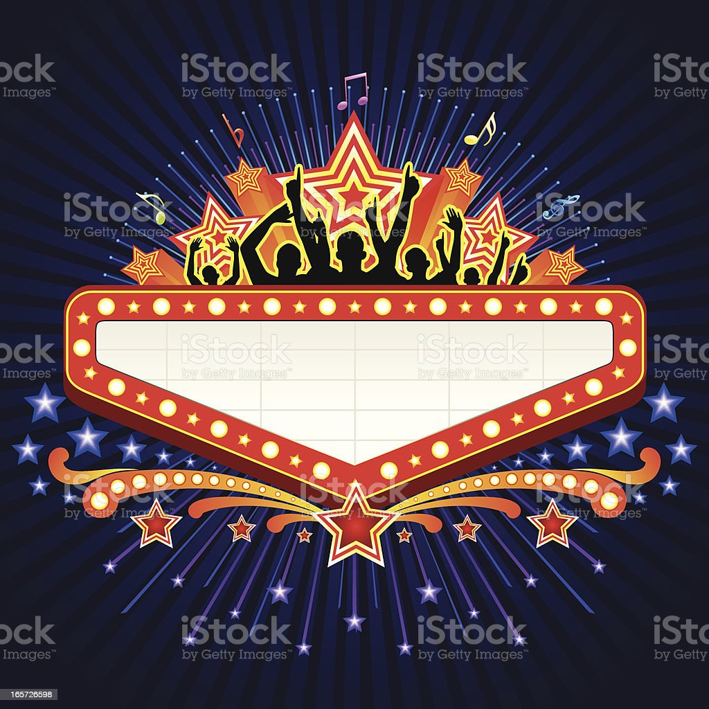 Marquee party Banner royalty-free stock vector art