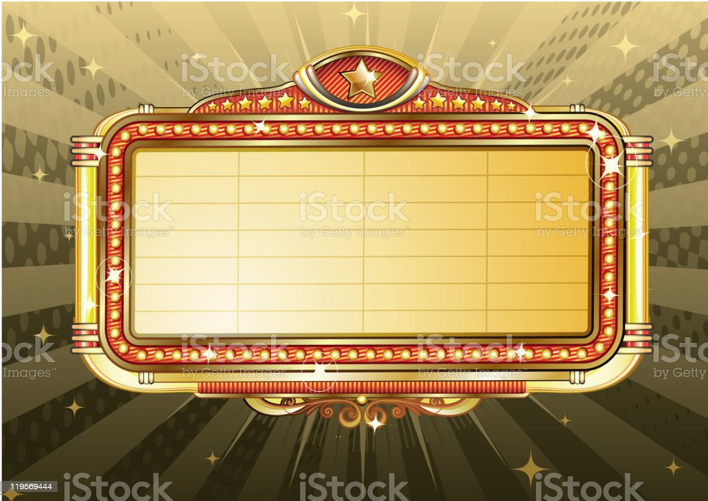marquee sign vector art illustration