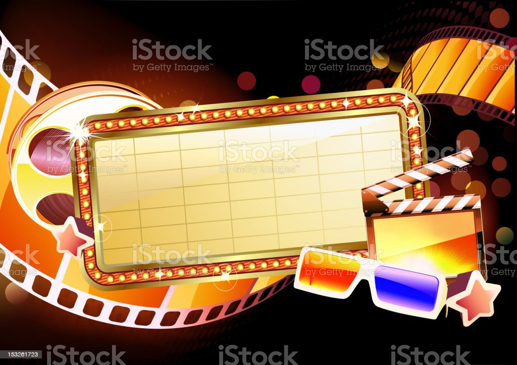 marquee sign royalty-free stock vector art
