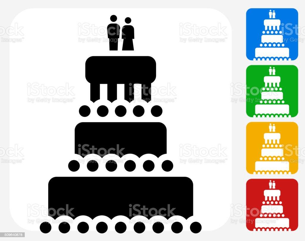 Marriage Cake Icon Flat Graphic Design vector art illustration