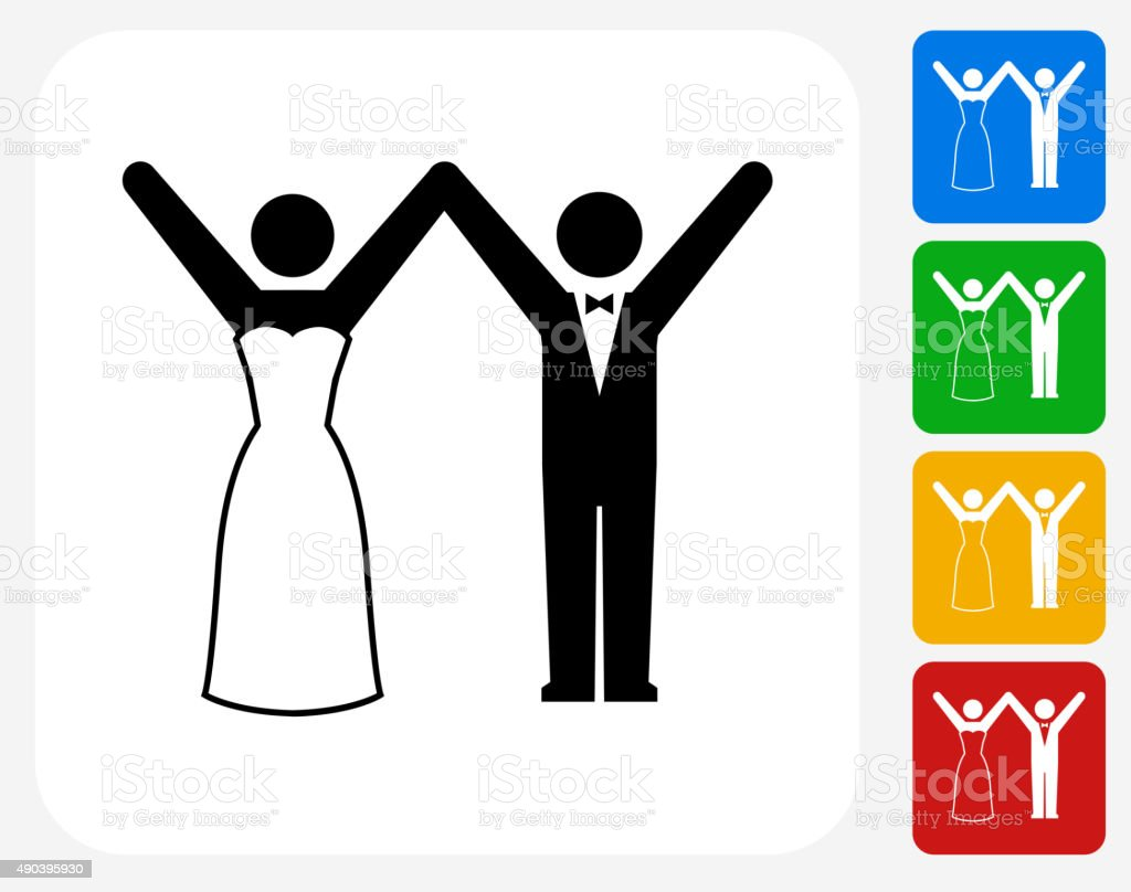 Marriage Icon Flat Graphic Design vector art illustration