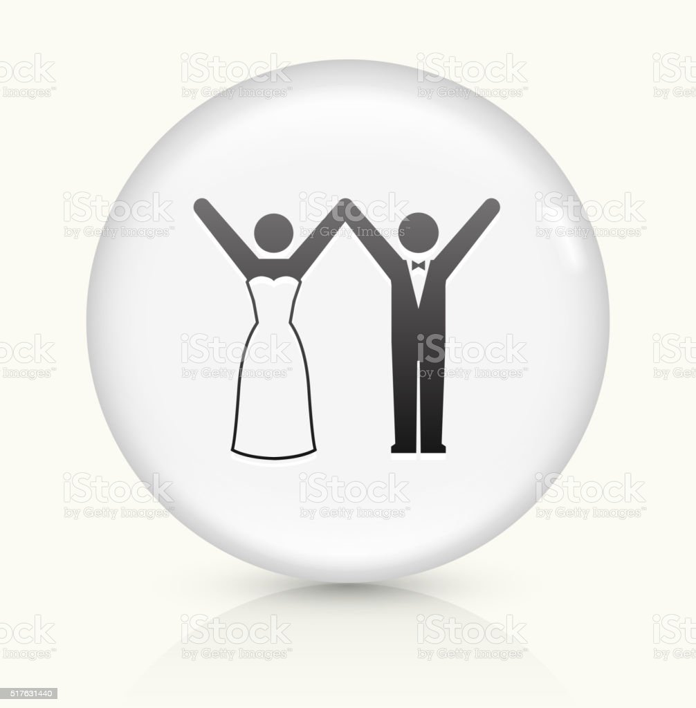 Marriage icon on white round vector button vector art illustration