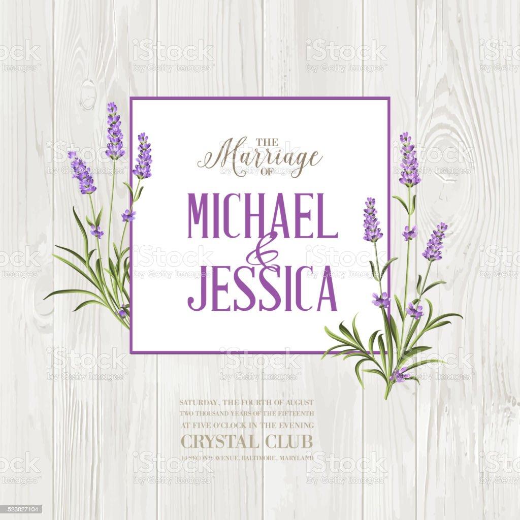Marriage invitation card vector art illustration