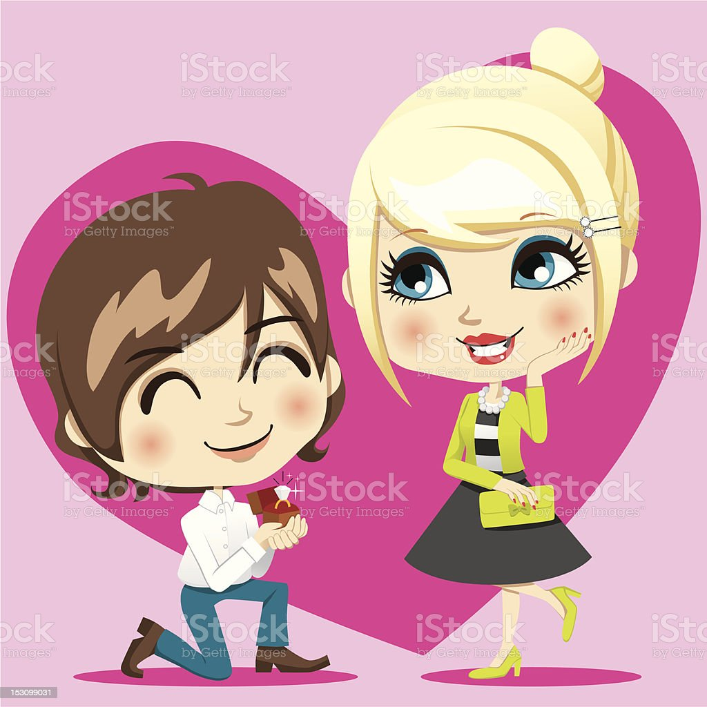 Marriage Proposal royalty-free stock vector art