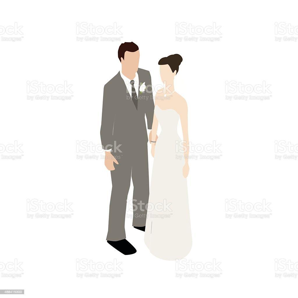Married couple flat illustration vector art illustration