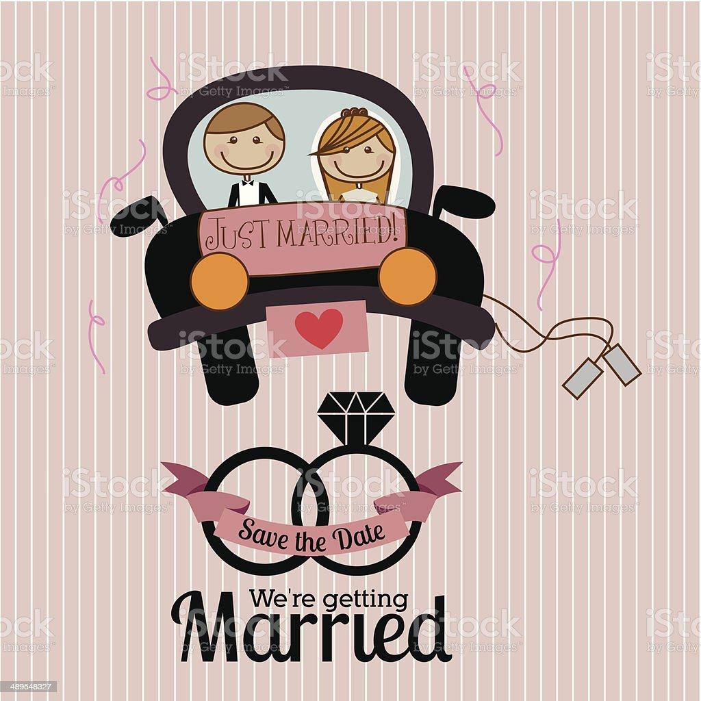 Married Design vector art illustration