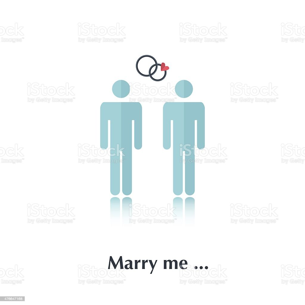 Marry me vector art illustration