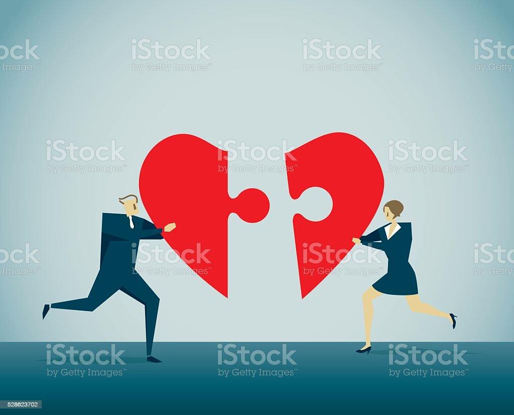 Marry vector art illustration