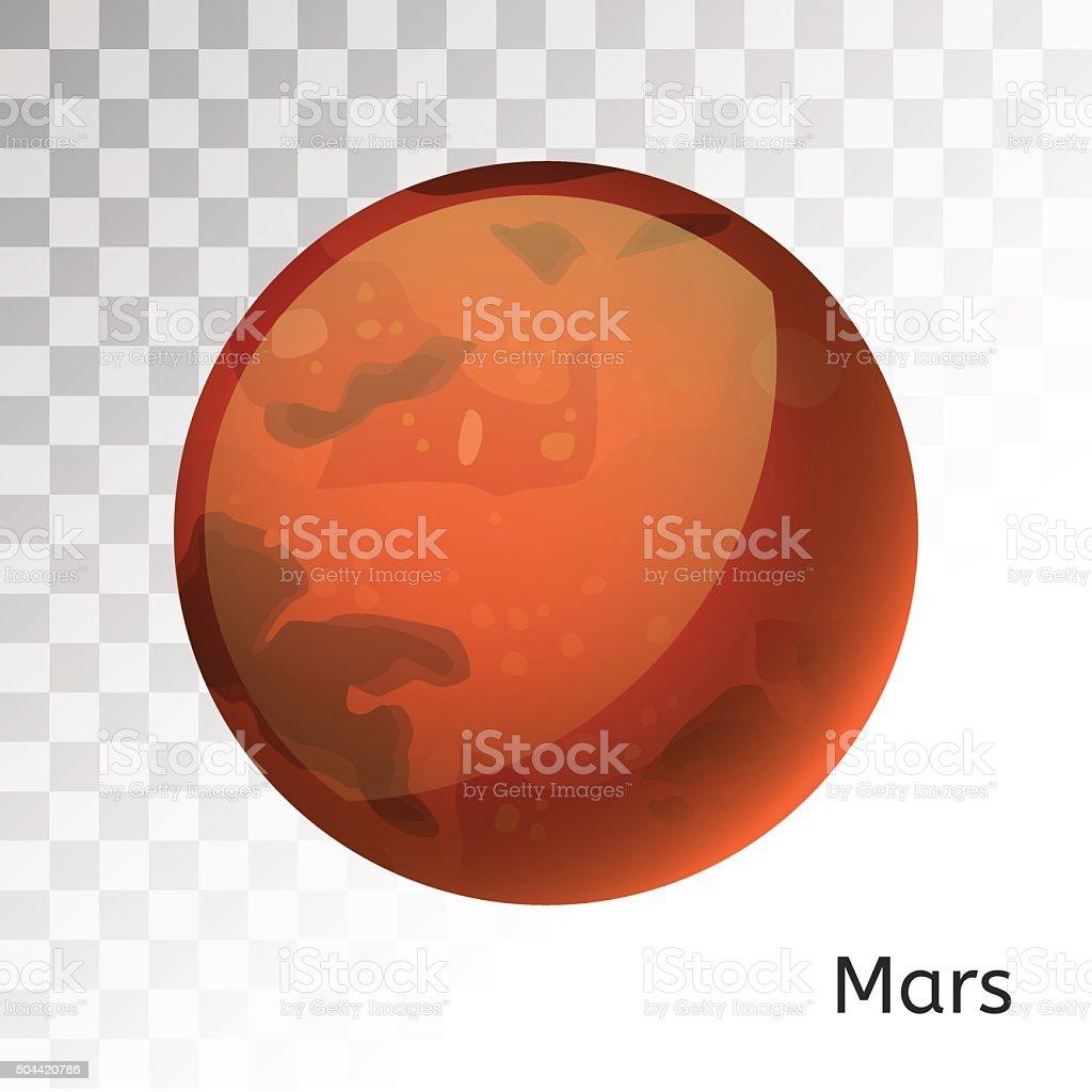 Mars planet 3d vector illustration vector art illustration