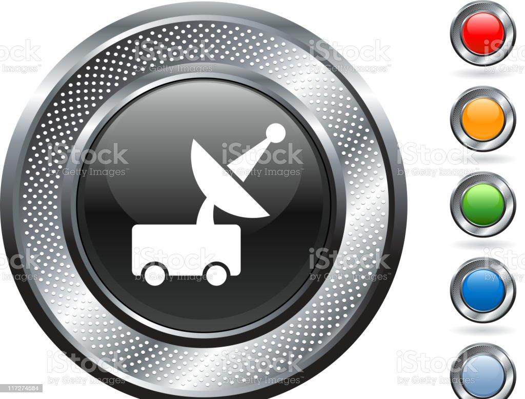 mars rover royalty free vector art on metallic button royalty-free stock vector art