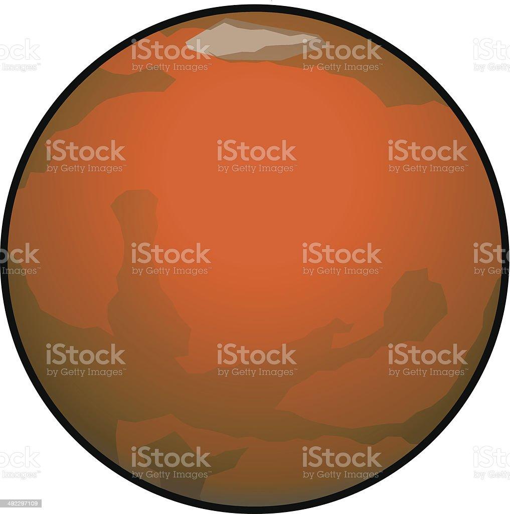 Mars vector art illustration