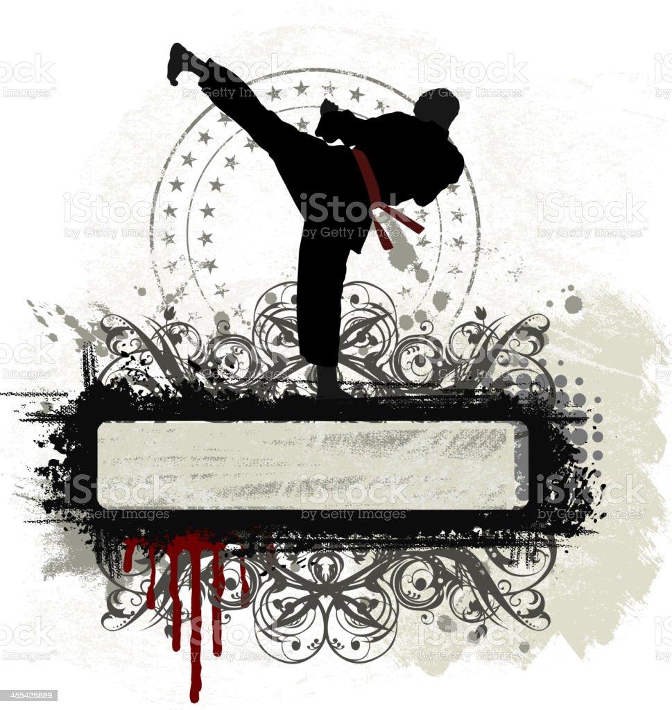 Marshal Arts Banner vector art illustration