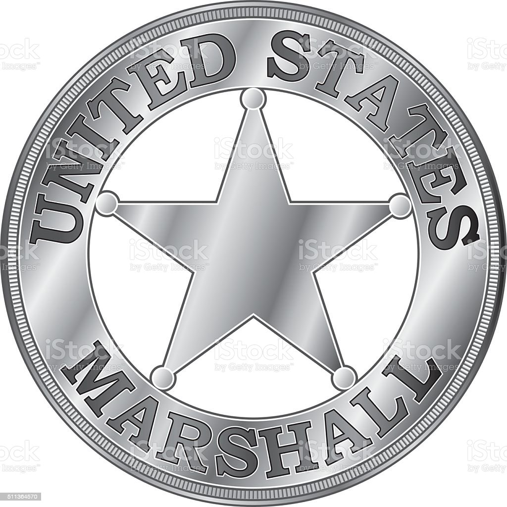 U. S. Marshall Badge vector art illustration