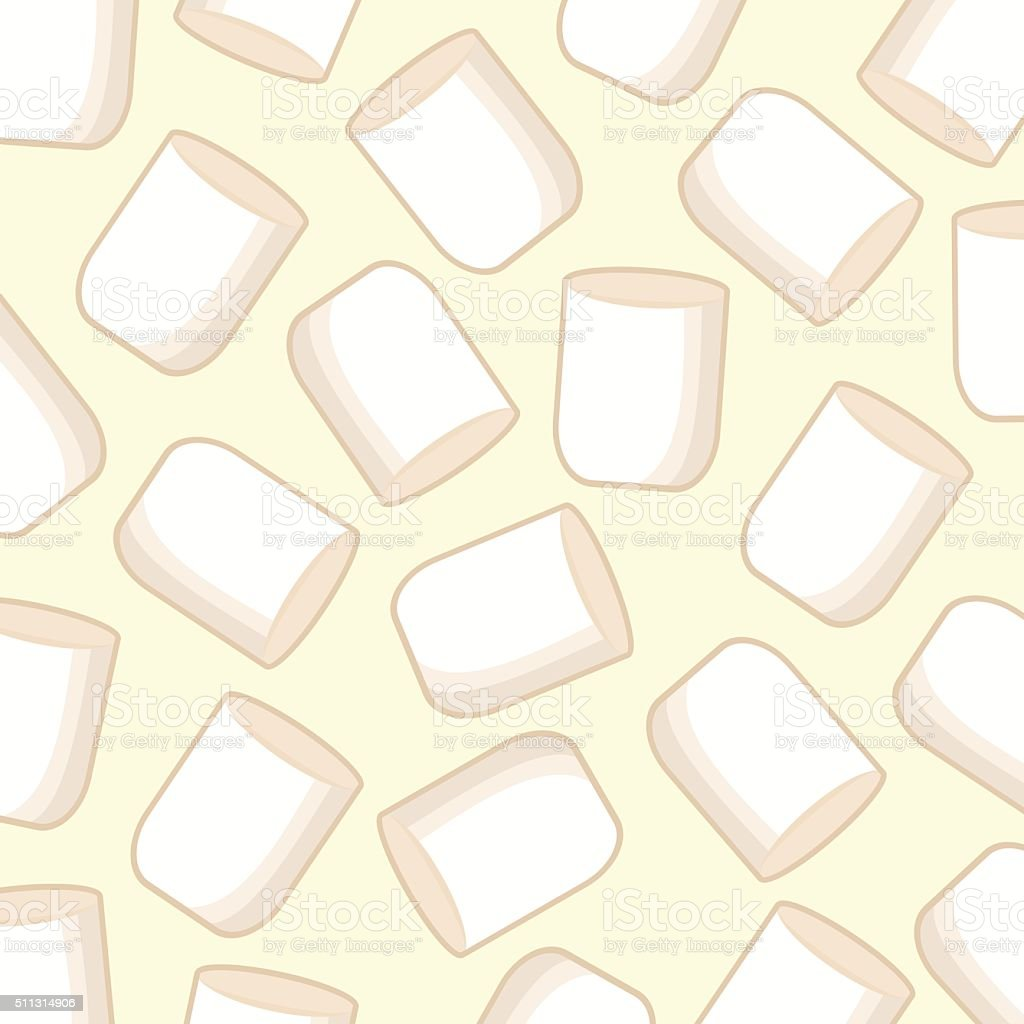 Marshmallow background vector art illustration