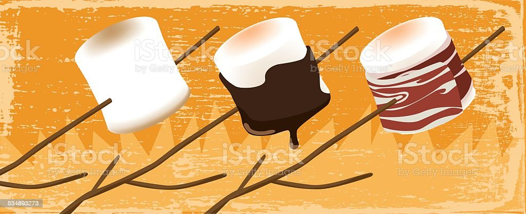 Marshmallow recipes vector art illustration