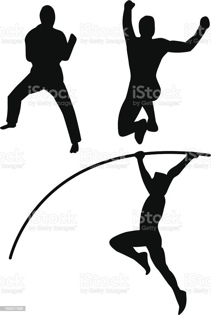 Martial Arts and Athletics royalty-free stock vector art
