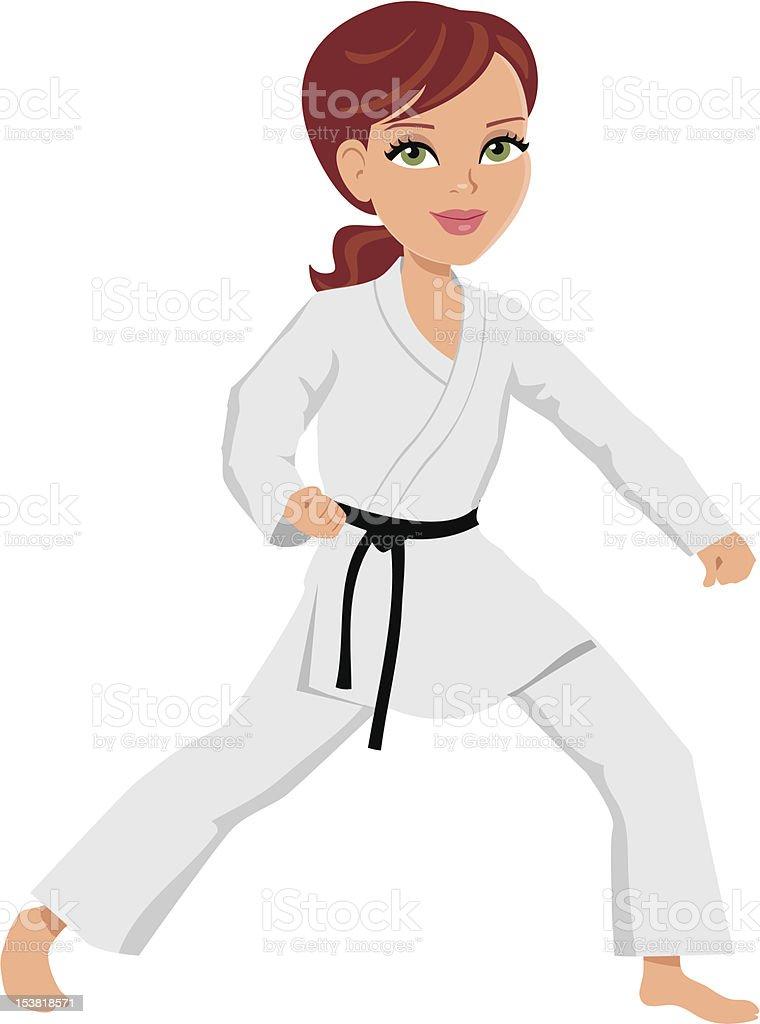 Arts martiaux illustration de dessin anim fille stock for Art martiaux