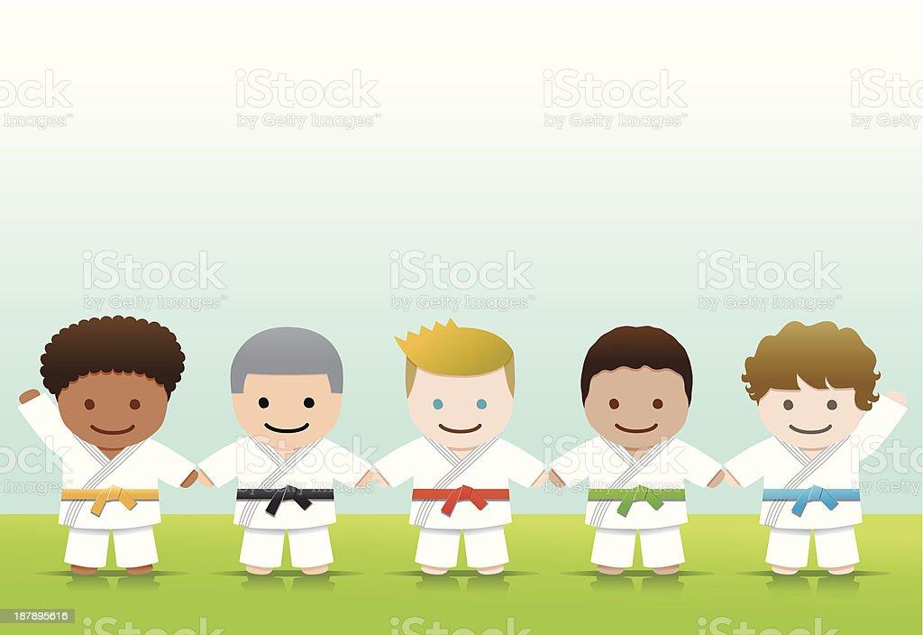 Martial arts: Judo Karate Boys royalty-free stock vector art