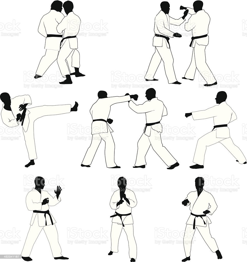 Martial Arts vector art illustration