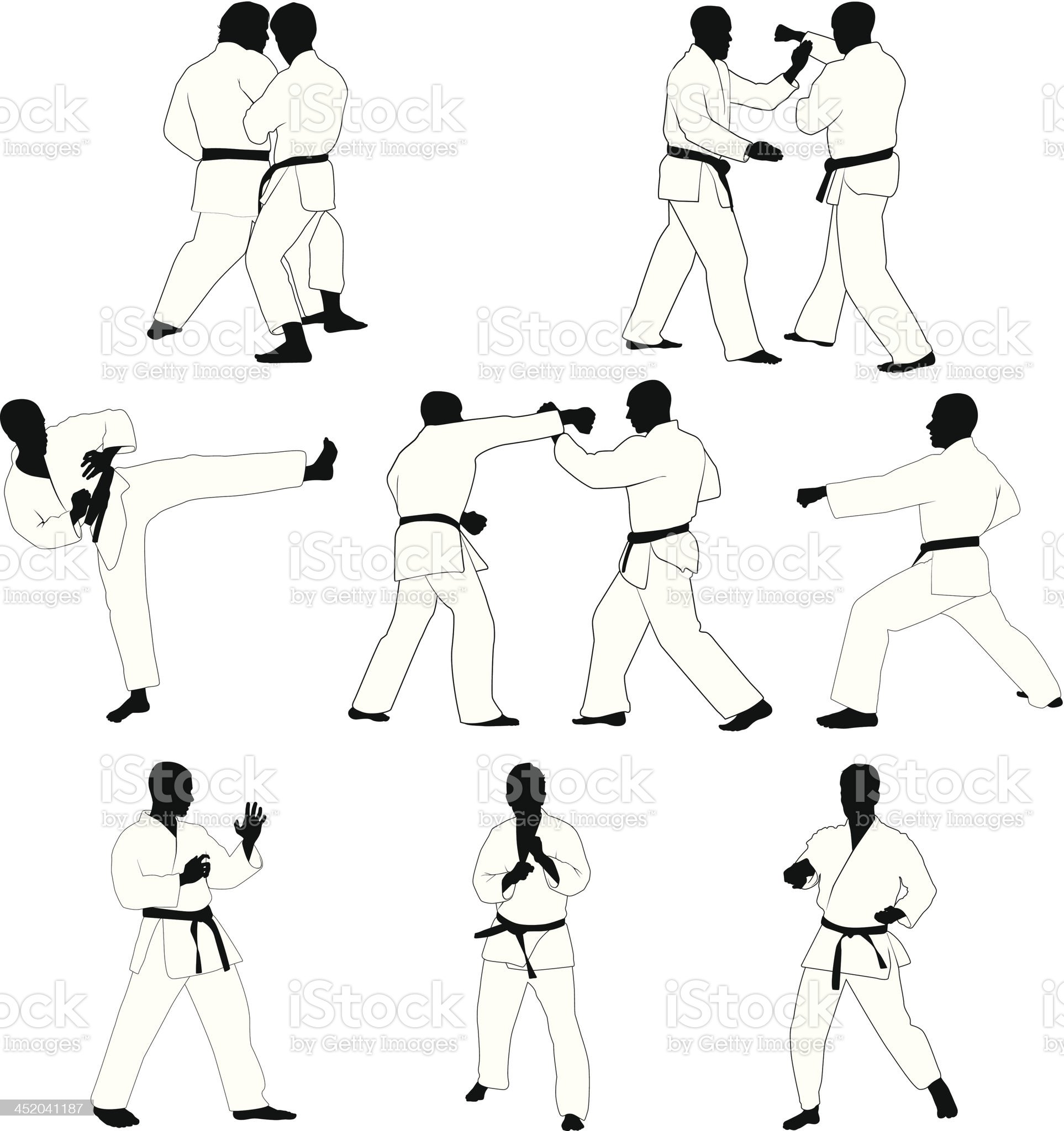 Martial Arts royalty-free stock vector art