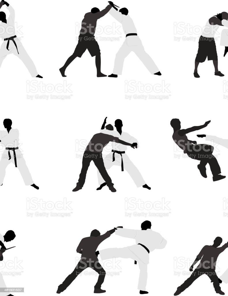 Martial arts royalty-free stock vector art