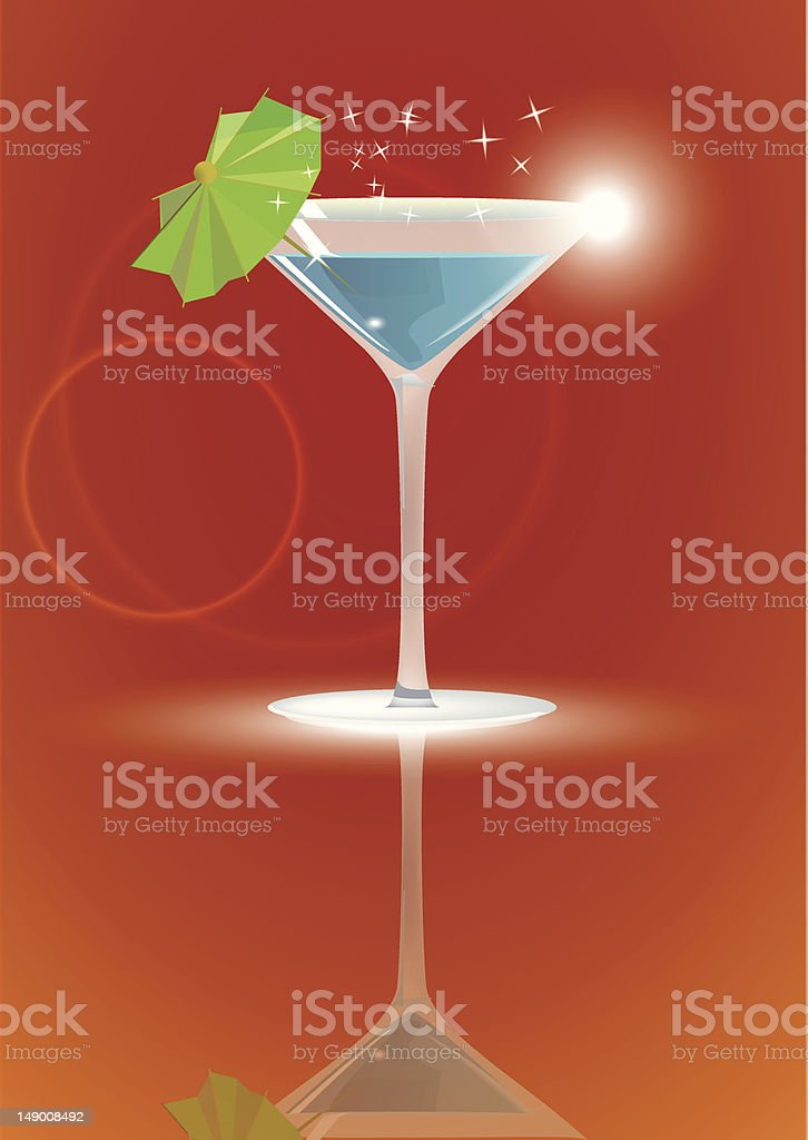 martini cocktail royalty-free stock vector art