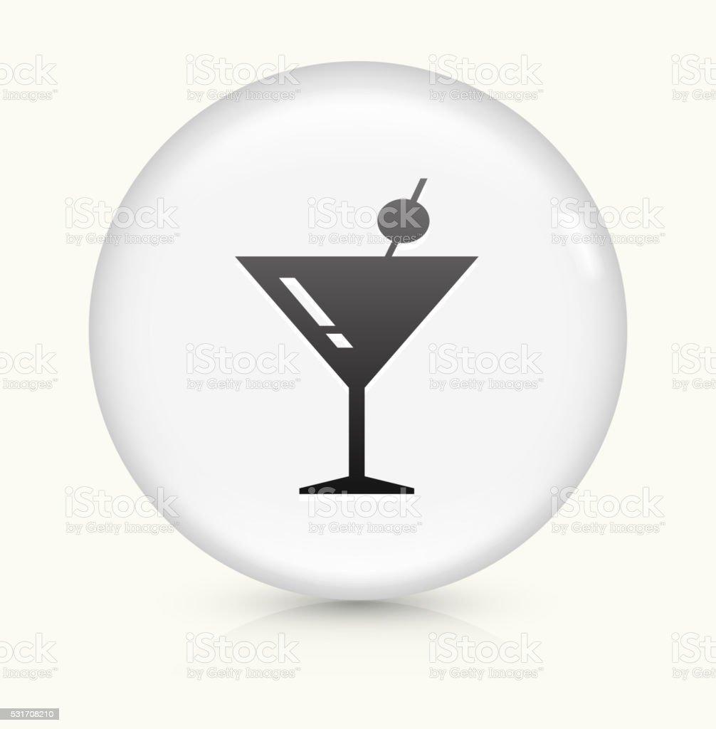 Martini Glass icon on white round vector button vector art illustration