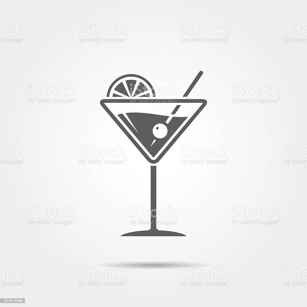Martini glass icon vector art illustration