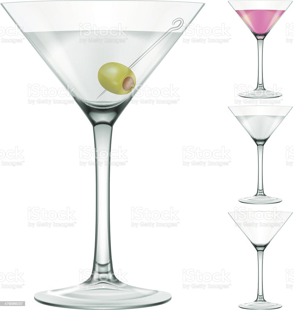 Martini glass vector art illustration
