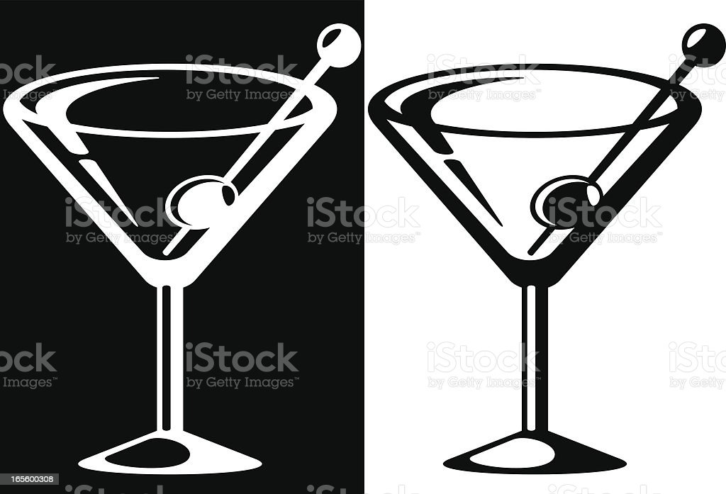 Martini icon royalty-free stock vector art