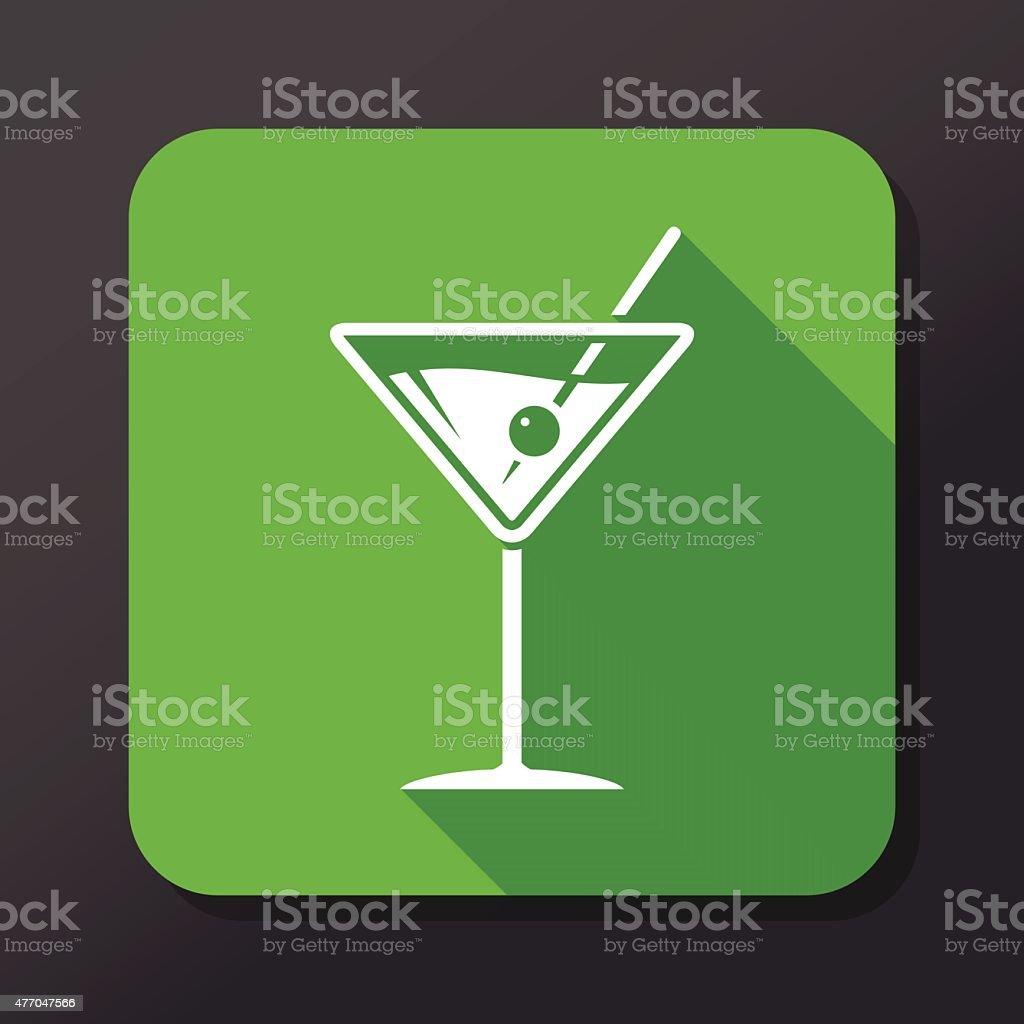 Martini Icon vector art illustration