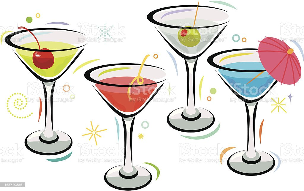 Martini Time vector art illustration