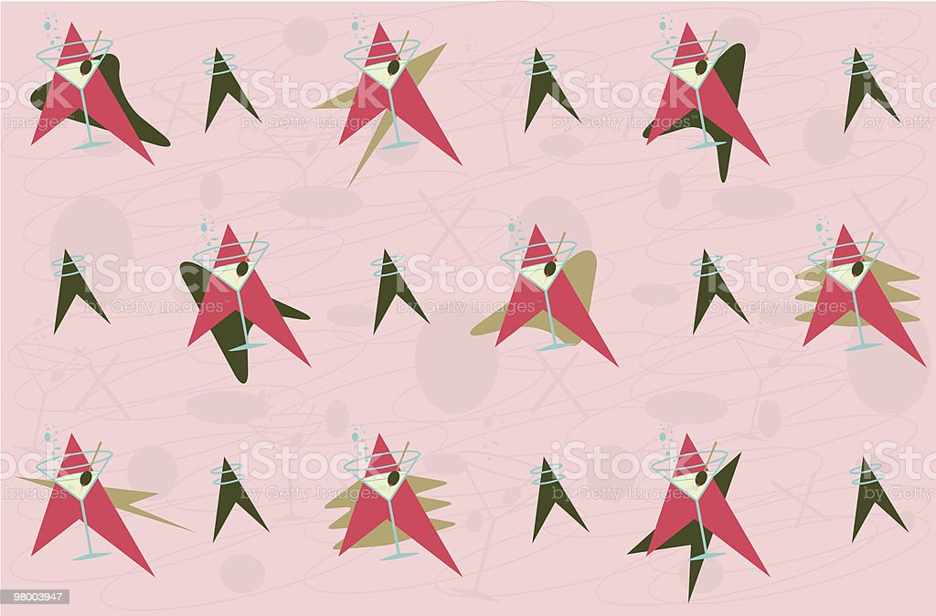 Martinis in Doll Land royalty-free stock vector art