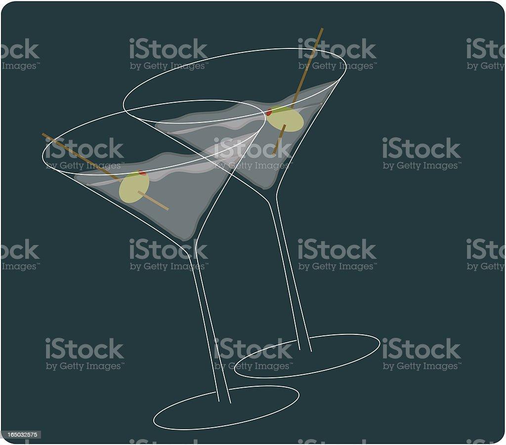 Martinis royalty-free stock vector art