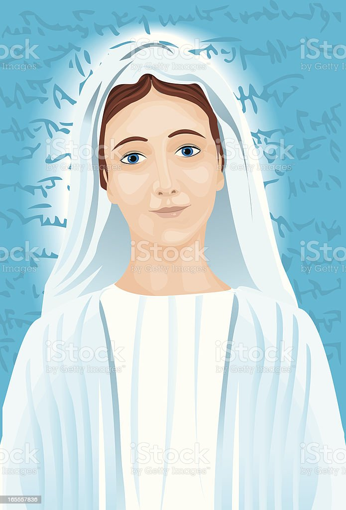 mary royalty-free stock vector art