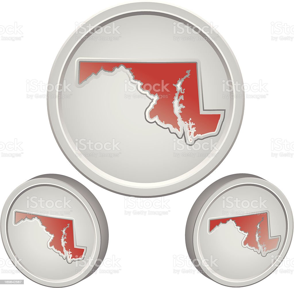 Maryland Button royalty-free stock vector art
