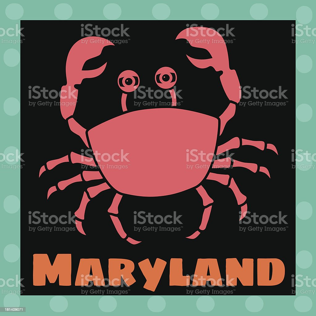 Maryland crabs royalty-free stock vector art