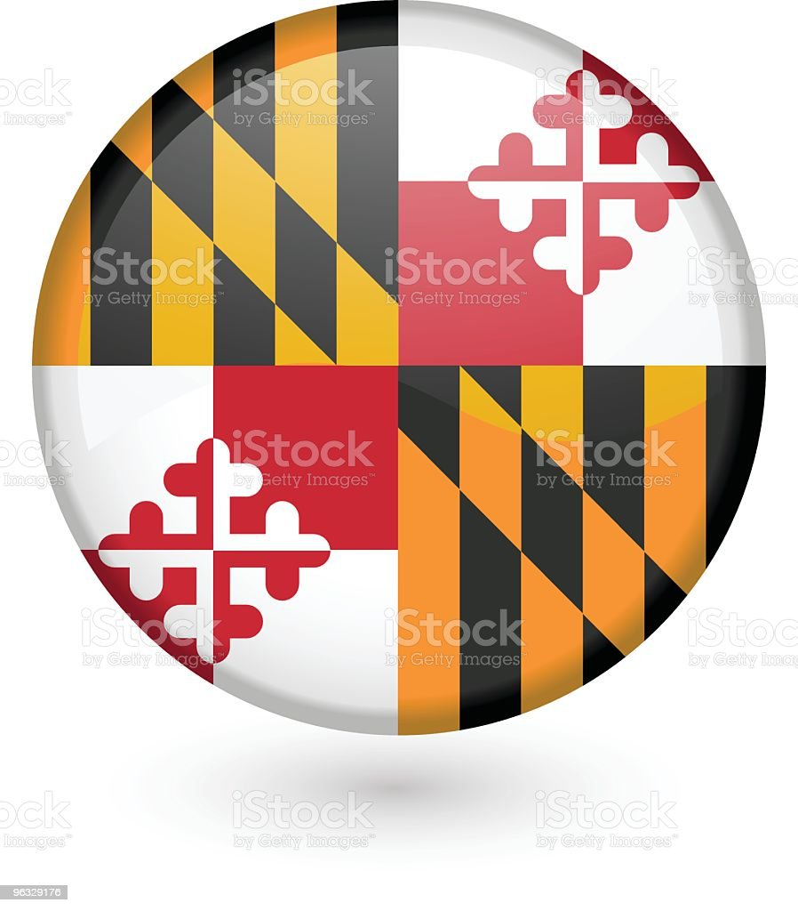 Maryland flag button royalty-free stock vector art