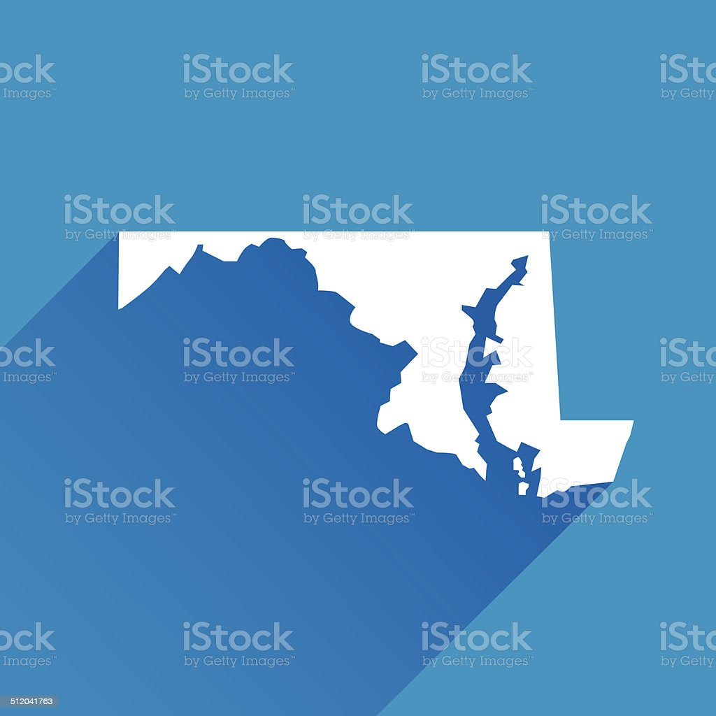 Maryland Icon vector art illustration