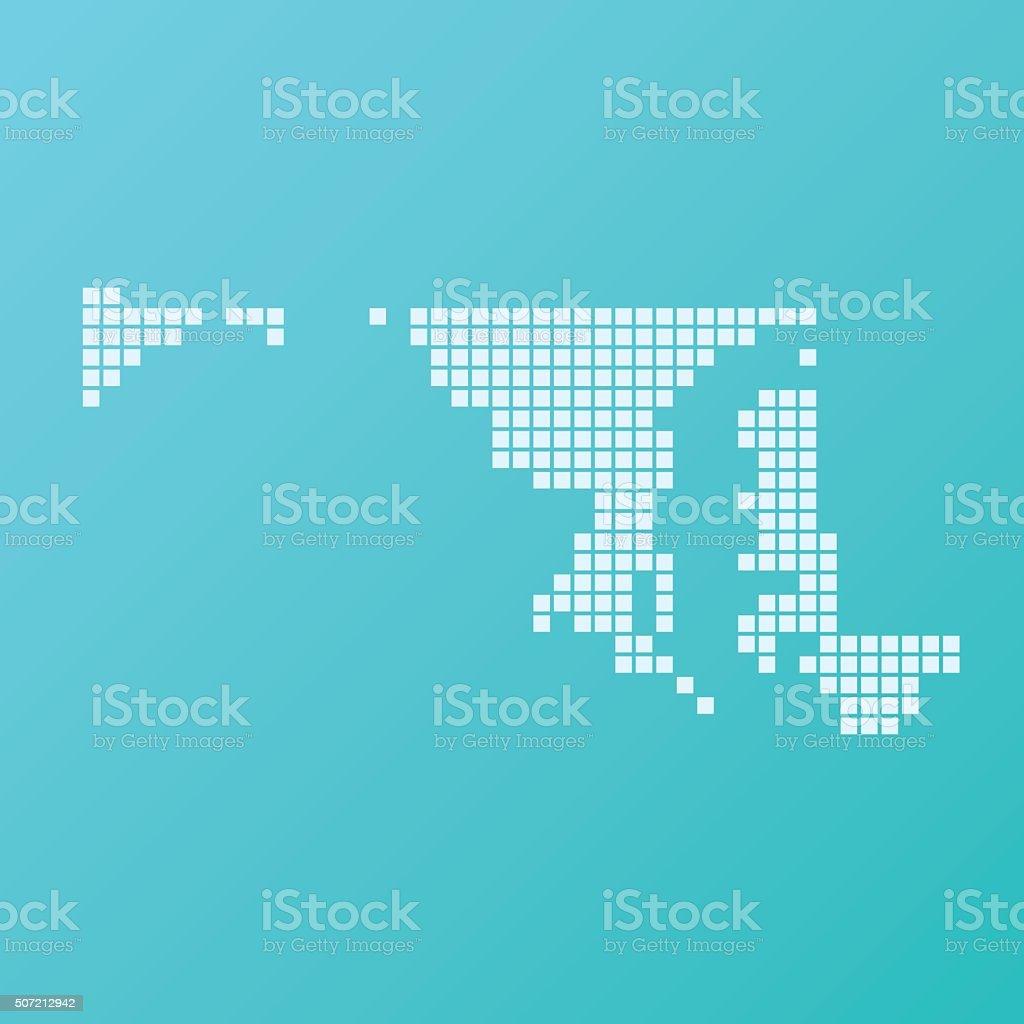 Maryland Map Basic Square Pattern Turquoise vector art illustration