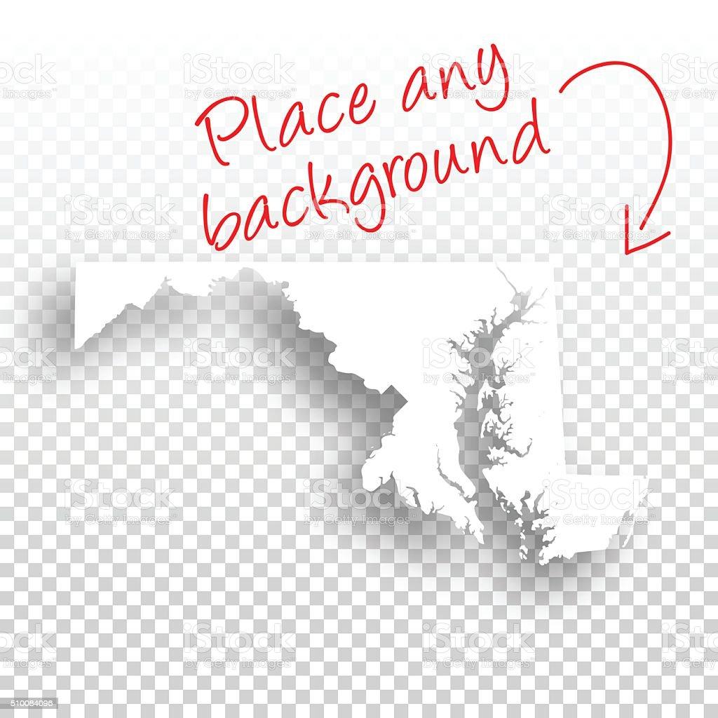 Maryland Map for design - Blank Background vector art illustration