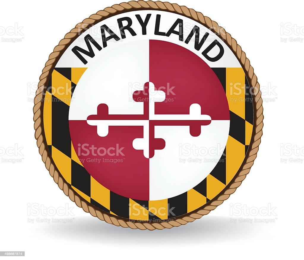 Maryland Seal vector art illustration