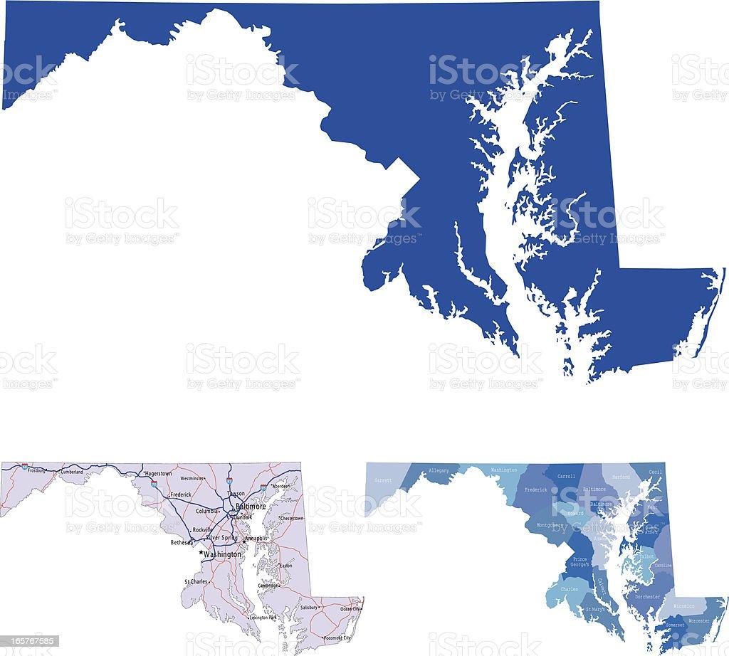 Maryland vector art illustration