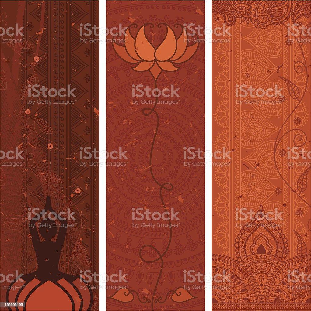 Masala Banners - Orange royalty-free stock vector art