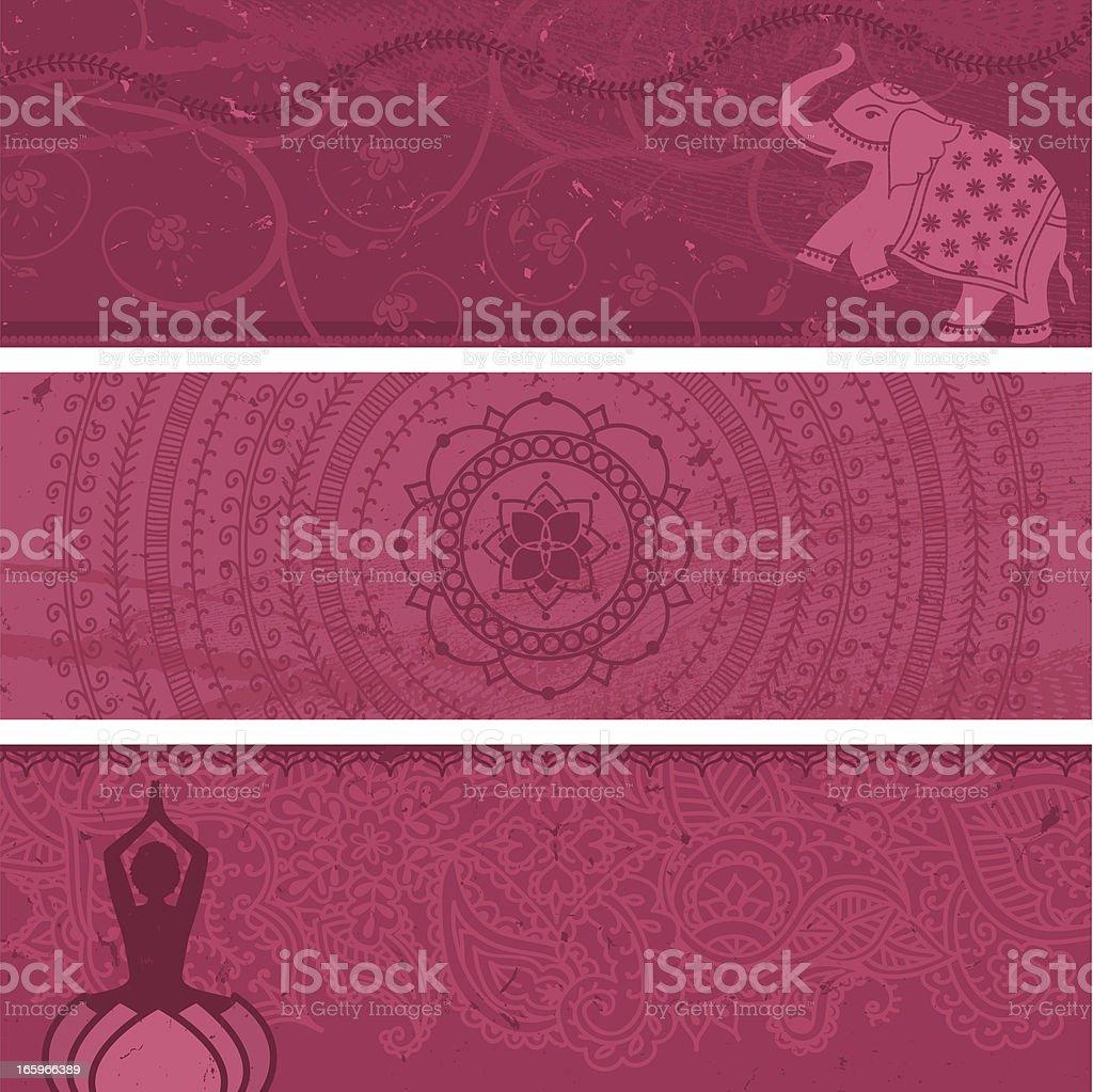 Masala Banners Pink vector art illustration