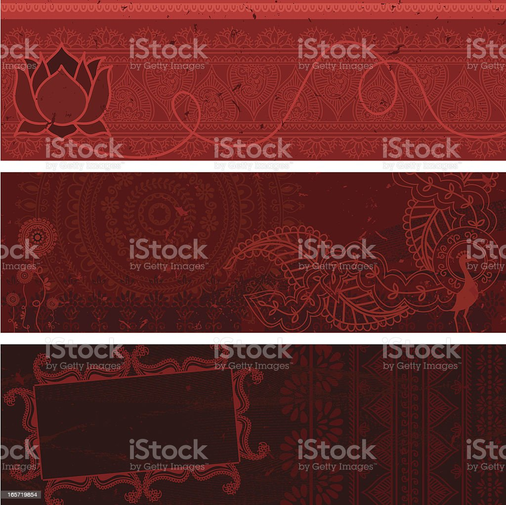 Masala Banners - Red royalty-free stock vector art